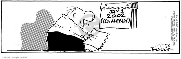 Comic Strip Bob Thaves Tom Thaves  Frank and Ernest 2002-01-02 auto mechanic