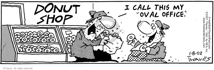 Comic Strip Bob Thaves Tom Thaves  Frank and Ernest 2002-01-08 shape