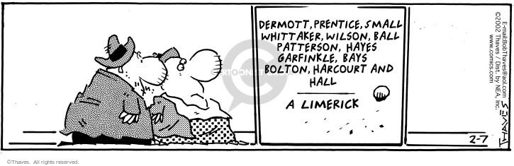 Comic Strip Bob Thaves Tom Thaves  Frank and Ernest 2002-02-07 rhythm