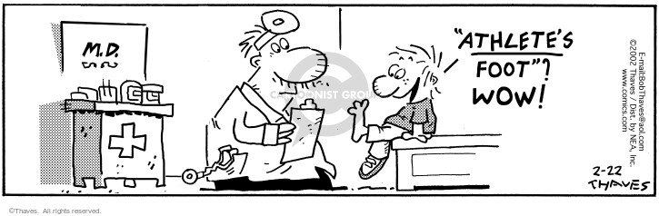 Comic Strip Bob Thaves Tom Thaves  Frank and Ernest 2002-02-22 health