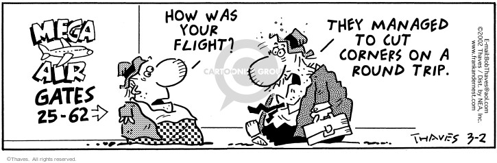Comic Strip Bob Thaves Tom Thaves  Frank and Ernest 2002-03-02 air traveler
