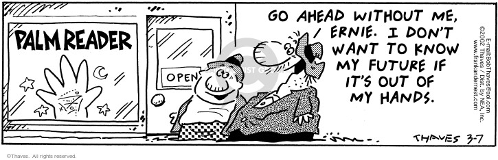 Comic Strip Bob Thaves Tom Thaves  Frank and Ernest 2002-03-07 forecast