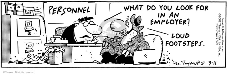 Comic Strip Bob Thaves Tom Thaves  Frank and Ernest 2002-03-11 seeker