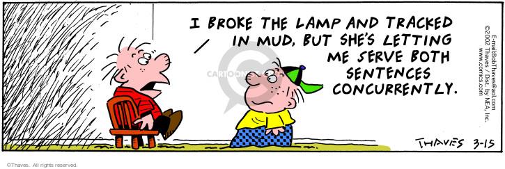 Comic Strip Bob Thaves Tom Thaves  Frank and Ernest 2002-03-15 discipline