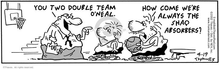 Comic Strip Bob Thaves Tom Thaves  Frank and Ernest 2002-04-19 professional basketball