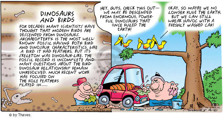 Comic Strip Bob Thaves Tom Thaves  Frank and Ernest 2002-04-21 car wash