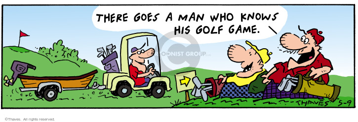 Comic Strip Bob Thaves Tom Thaves  Frank and Ernest 2002-05-09 golf cart