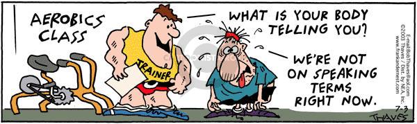 Comic Strip Bob Thaves Tom Thaves  Frank and Ernest 2003-07-03 endurance
