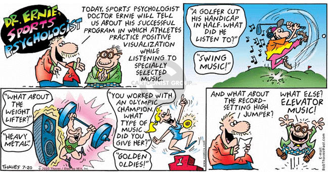 Cartoonist Bob Thaves Tom Thaves  Frank and Ernest 2003-07-20 track field