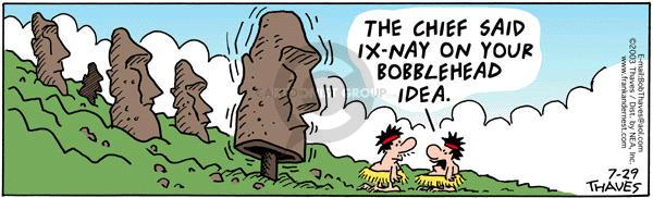Cartoonist Bob Thaves Tom Thaves  Frank and Ernest 2003-07-29 adjustment