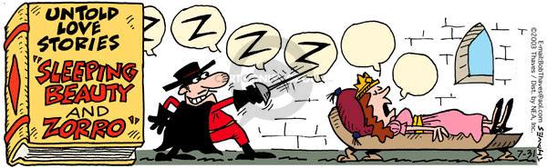 Comic Strip Bob Thaves Tom Thaves  Frank and Ernest 2003-07-31 fantasy