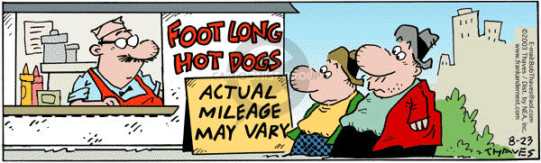 Comic Strip Bob Thaves Tom Thaves  Frank and Ernest 2003-08-23 measurement