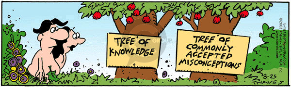 Tree of Knowledge.  Tree of Commonly Accepted Misconceptions.