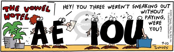 Cartoonist Bob Thaves Tom Thaves  Frank and Ernest 2003-09-10 owe