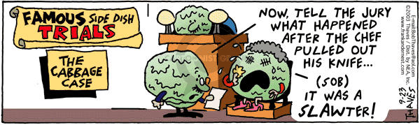 Comic Strip Bob Thaves Tom Thaves  Frank and Ernest 2003-09-23 jury