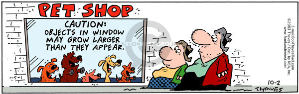 Comic Strip Bob Thaves Tom Thaves  Frank and Ernest 2003-10-02 caution