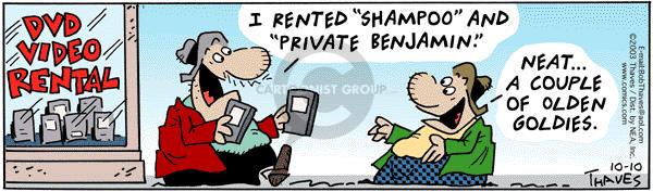 Comic Strip Bob Thaves Tom Thaves  Frank and Ernest 2003-10-10 Benjamin