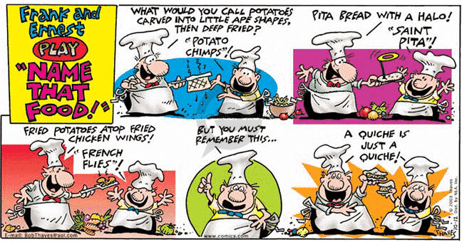 Comic Strip Bob Thaves Tom Thaves  Frank and Ernest 2003-10-12 potato