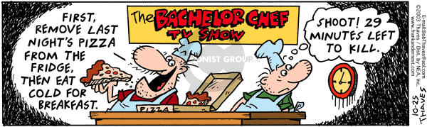 Comic Strip Bob Thaves Tom Thaves  Frank and Ernest 2003-10-25 bachelor