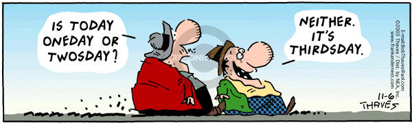 Comic Strip Bob Thaves Tom Thaves  Frank and Ernest 2003-11-06 neither