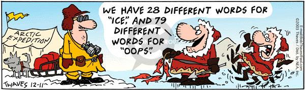 Cartoonist Bob Thaves Tom Thaves  Frank and Ernest 2003-12-11 define