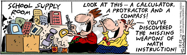 Comic Strip Bob Thaves Tom Thaves  Frank and Ernest 2003-12-22 angle