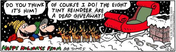 Comic Strip Bob Thaves Tom Thaves  Frank and Ernest 2003-12-25 roof