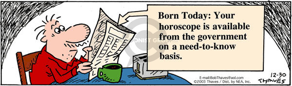 Comic Strip Bob Thaves Tom Thaves  Frank and Ernest 2003-12-30 homeland