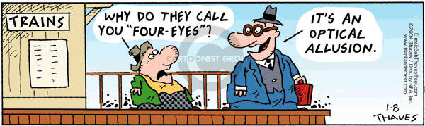 Comic Strip Bob Thaves Tom Thaves  Frank and Ernest 2004-01-08 optometry