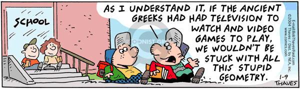 Comic Strip Bob Thaves Tom Thaves  Frank and Ernest 2004-01-09 program