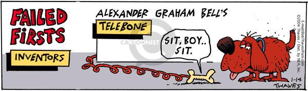 Comic Strip Bob Thaves Tom Thaves  Frank and Ernest 2004-01-14 Alexander