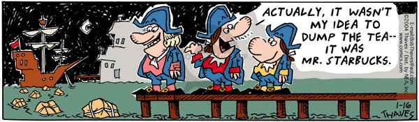 Comic Strip Bob Thaves Tom Thaves  Frank and Ernest 2004-01-16 tax