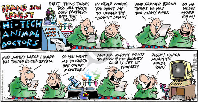 Comic Strip Bob Thaves Tom Thaves  Frank and Ernest 2004-01-25 computer memory