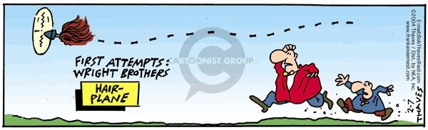Comic Strip Bob Thaves Tom Thaves  Frank and Ernest 2004-02-07 Wright brothers