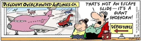 Comic Strip Bob Thaves Tom Thaves  Frank and Ernest 2004-02-19 airplane travel