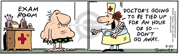 Comic Strip Bob Thaves Tom Thaves  Frank and Ernest 2004-02-20 nurse