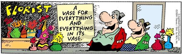 Comic Strip Bob Thaves Tom Thaves  Frank and Ernest 2004-02-24 arrange