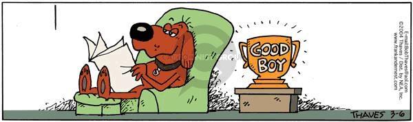 Cartoonist Bob Thaves Tom Thaves  Frank and Ernest 2004-03-06 recognition