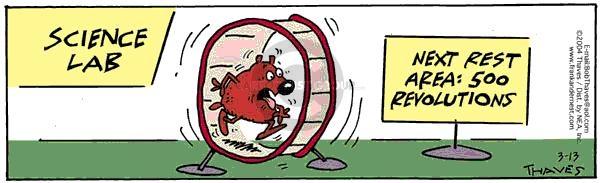 Comic Strip Bob Thaves Tom Thaves  Frank and Ernest 2004-03-13 endurance