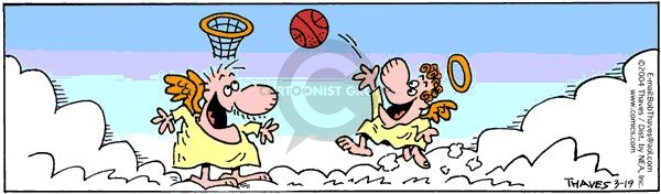 Comic Strip Bob Thaves Tom Thaves  Frank and Ernest 2004-03-19 basketball ball