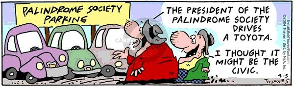 Comic Strip Bob Thaves Tom Thaves  Frank and Ernest 2004-04-05 parking