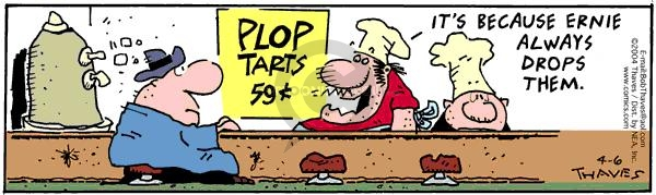 Comic Strip Bob Thaves Tom Thaves  Frank and Ernest 2004-04-06 price