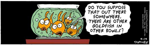 Comic Strip Bob Thaves Tom Thaves  Frank and Ernest 2004-04-14 goldfish