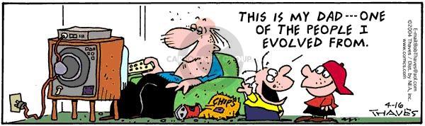 Comic Strip Bob Thaves Tom Thaves  Frank and Ernest 2004-04-16 evolve