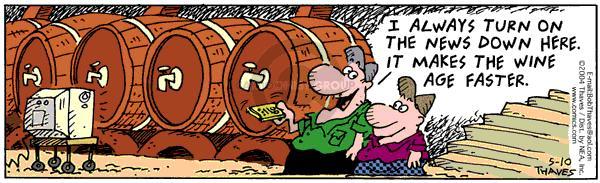 Cartoonist Bob Thaves Tom Thaves  Frank and Ernest 2004-05-10 make