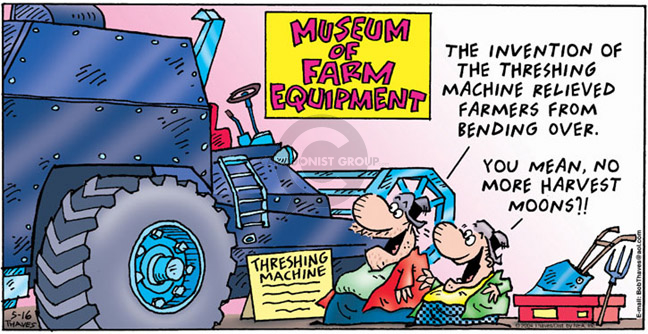 Cartoonist Bob Thaves Tom Thaves  Frank and Ernest 2004-05-16 machinery