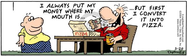 Comic Strip Bob Thaves Tom Thaves  Frank and Ernest 2004-05-28 slice