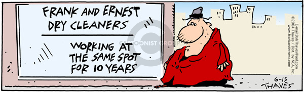 Comic Strip Bob Thaves Tom Thaves  Frank and Ernest 2004-06-15 work clothes