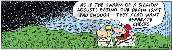 Cartoonist Bob Thaves Tom Thaves  Frank and Ernest 2004-06-25 misfortune