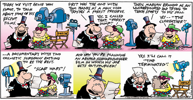 Comic Strip Bob Thaves Tom Thaves  Frank and Ernest 2004-07-11 termination
